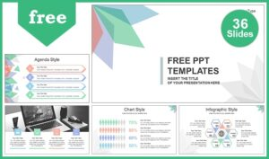 Abstract leaves presentation template slides