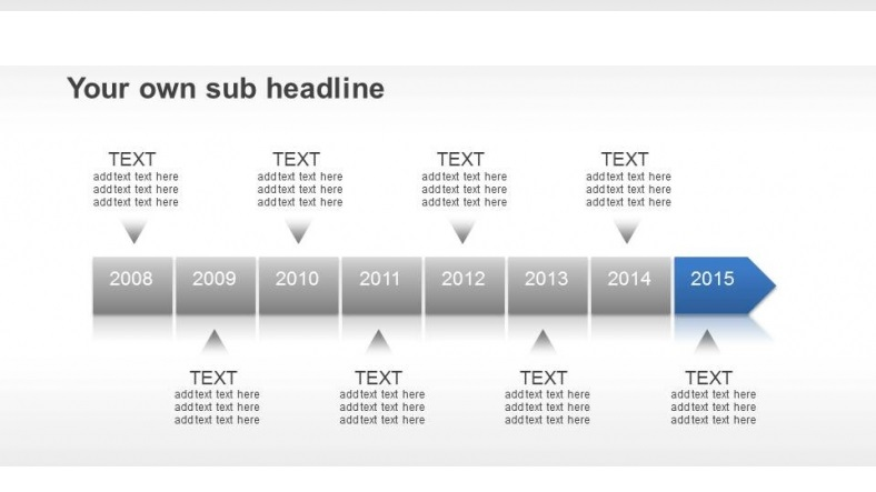 Eight Years Timeline Row Slide Feature Image