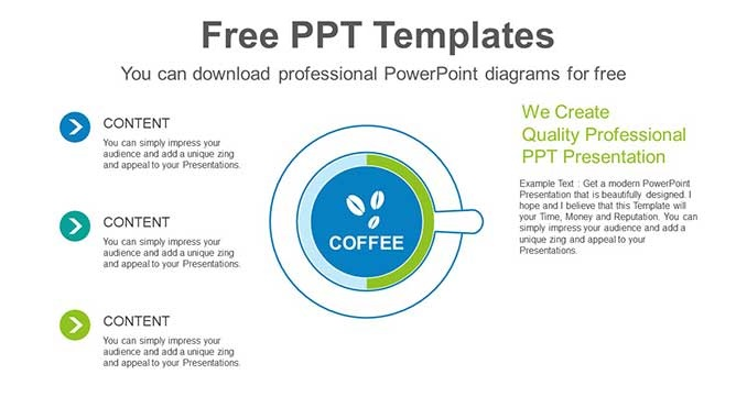 Coffee Cup Doughnut Chart Slide Feature Image