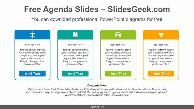Icon-Text-Boxes-PowerPoint-Diagram Feature Image
