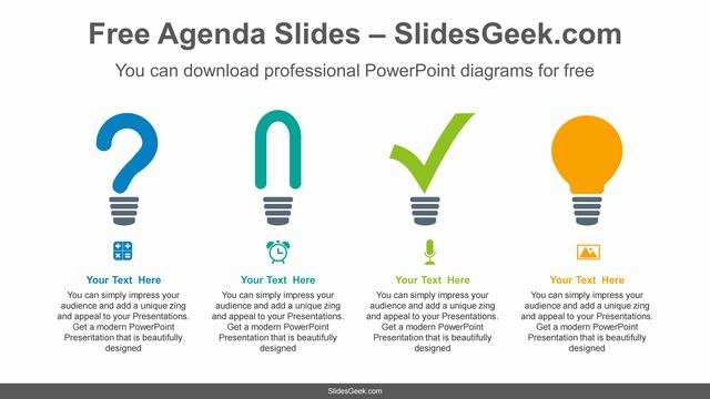 Light-bulb-icon-list-PowerPoint-Diagram-Template Feature Image