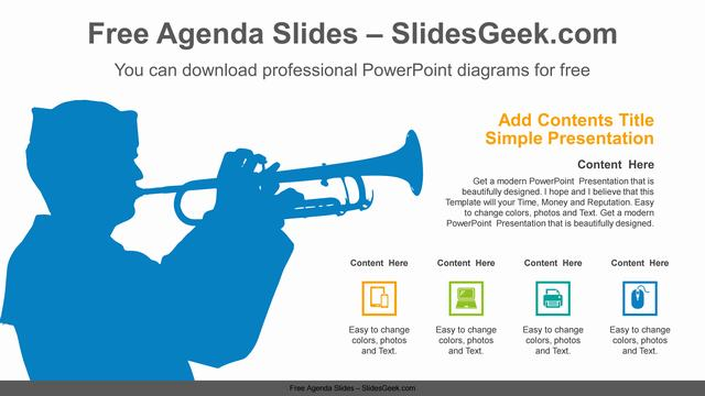 Naval-Trumpet-Playing-PowerPoint-Diagram Slide Feature Image
