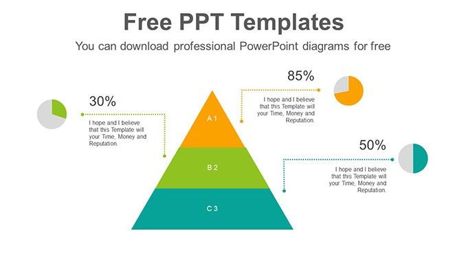 Pyramid Pie Chart Slide Feature Image