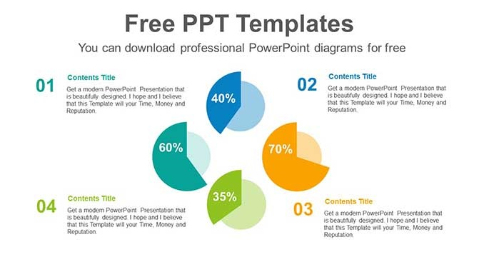 Radial Pie Charts Slide Feature Image