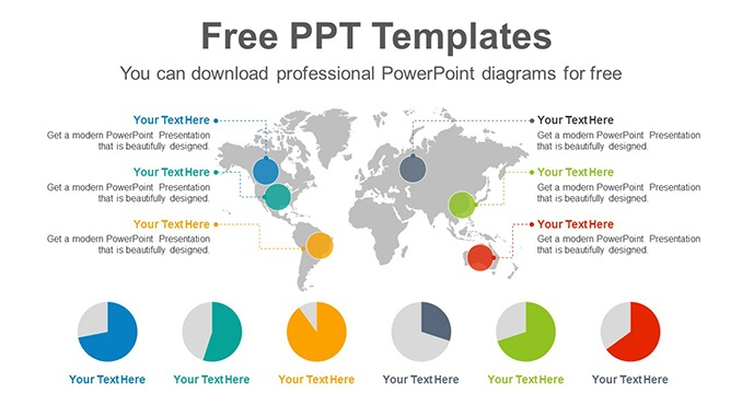 World Map Pie Charts Slide Feature Image