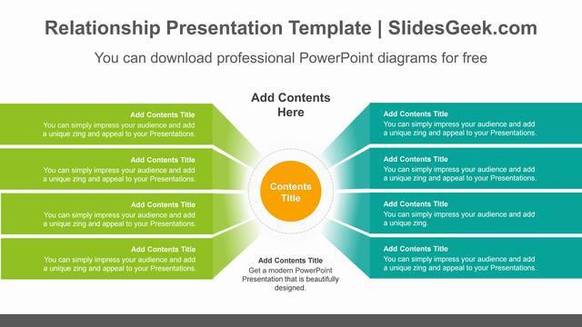 8-bent-banners-PowerPoint-Diagram-Template Feature Image