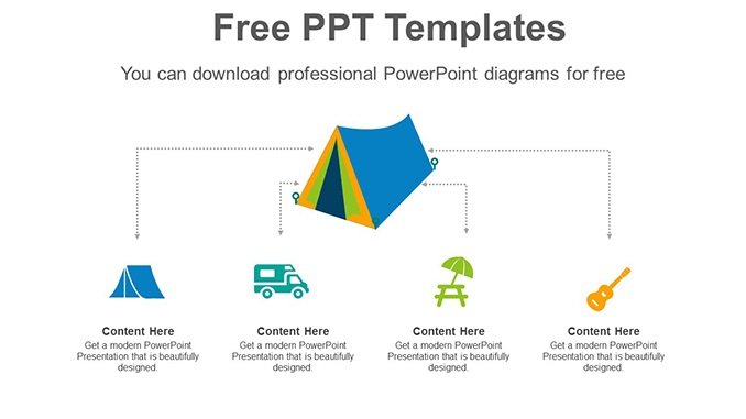 Camping-Travel-Tent-PowerPoint-Diagram-post-image Slide Feature Image