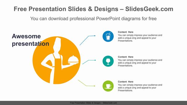 Chef-Silhouette-PPT-Diagram-Template Feature image