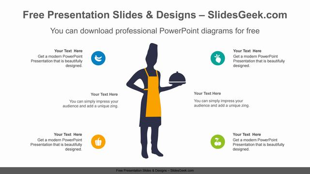 Chef-Silhouette-PowerPoint-Diagram feature image