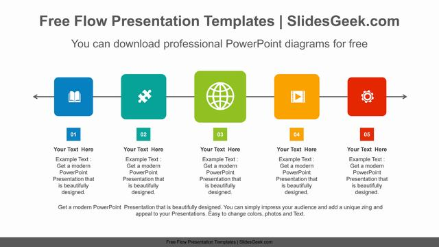 Colorful-square-flow-PowerPoint-Diagram-Template Feature Image