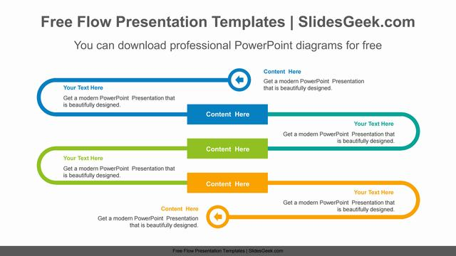 Curved-line-path-PowerPoint-Diagram-Template Feature image
