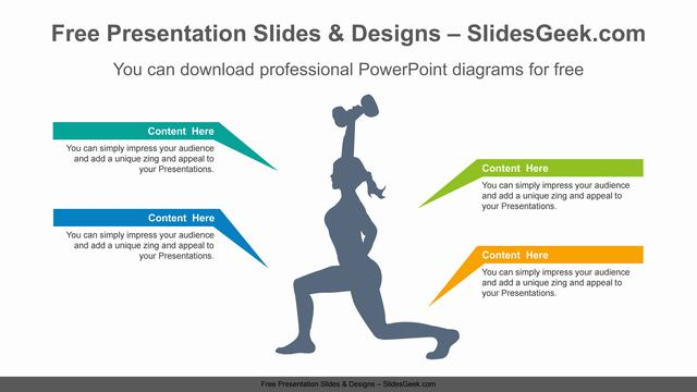 Dumbbell-woman-PowerPoint-Diagram-Template feature image