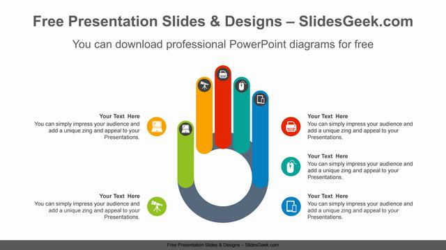 Five-fingers-PowerPoint-Diagram-Template feature image