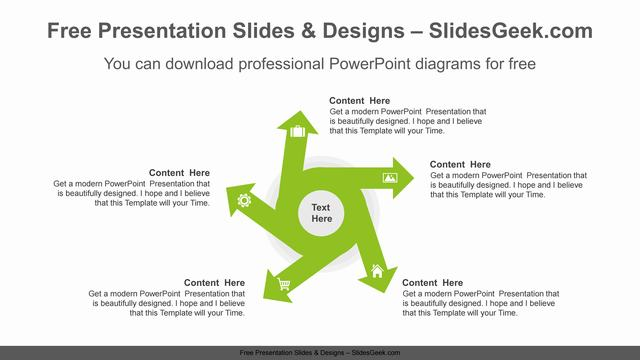Five-radial-arrows-PowerPoint-Diagram-Template Feature image