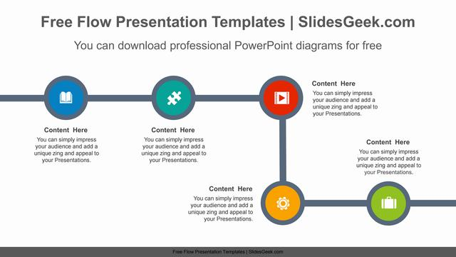 Flow-thick-lines-PowerPoint-Diagram-Template Feature Image