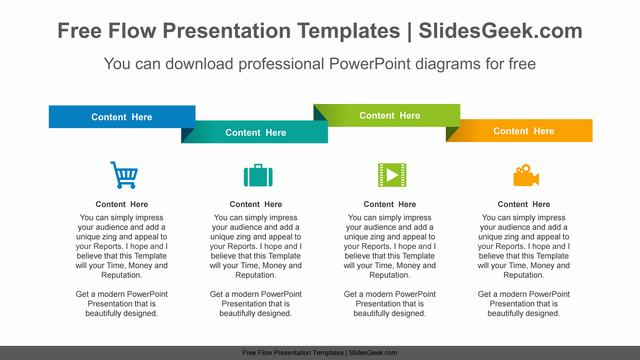 Folded-ribbon-progress-PowerPoint-Diagram-Template Feature Image