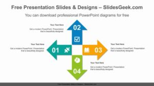 Four-Radial-Arrow-PowerPoint-Diagram feature image