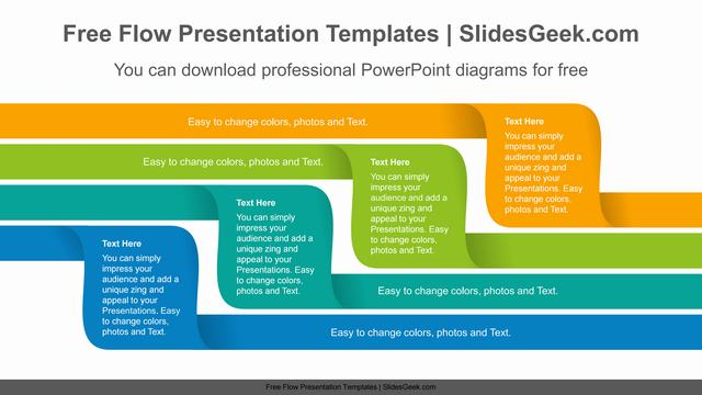 Four-Twisted-Ribbon-PowerPoint-Diagram Feature Image