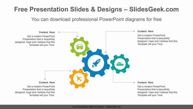Four-gears-PowerPoint-Diagram-Template feature image