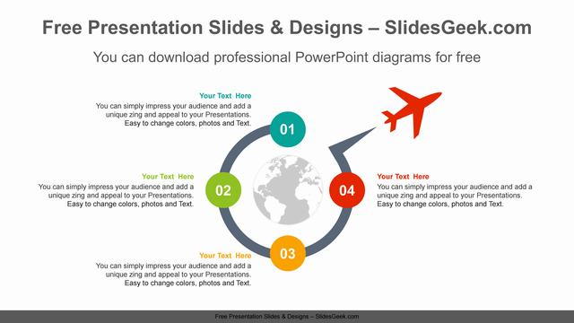 Four-radial-circle-PowerPoint-Diagram-Template feature image
