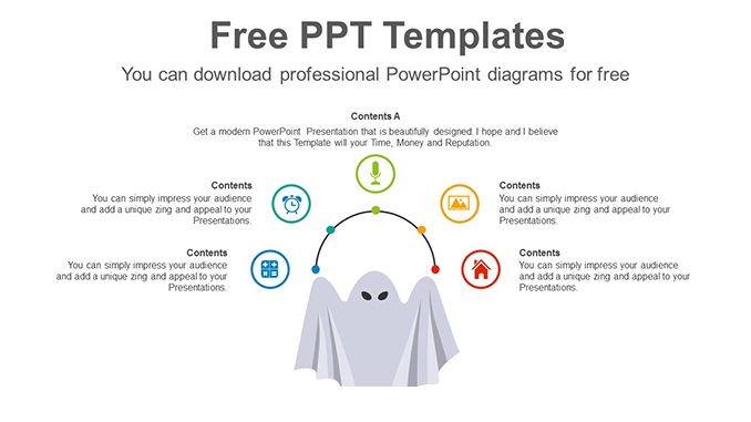 Halloween-Day-Ghost-PowerPoint-Diagram-posting-image slide feature image