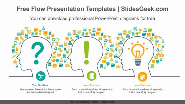 Human-thought-flow-PowerPoint-Diagram-Template Feature image
