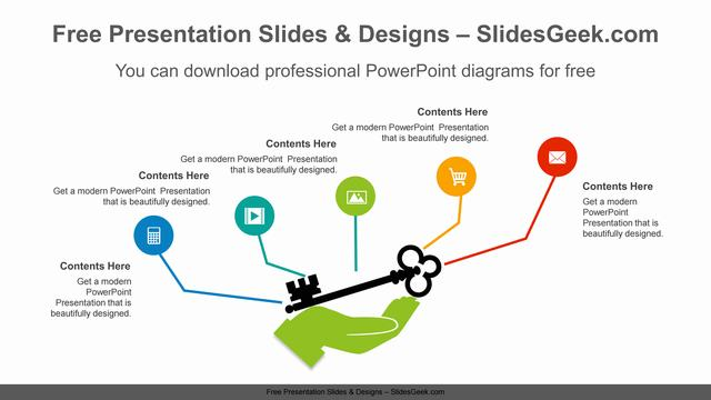 Key-on-hand-PowerPoint-Diagram-Template feature image