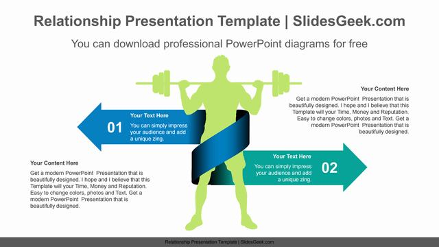 Opposite-ribbon-arrow-PowerPoint-Diagram-Template Slide Feature image