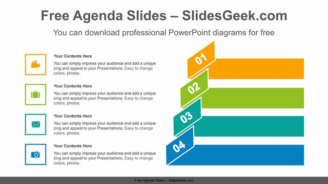 Origami-banner-numbering-PowerPoint-Diagram-Template Slide Feature Image