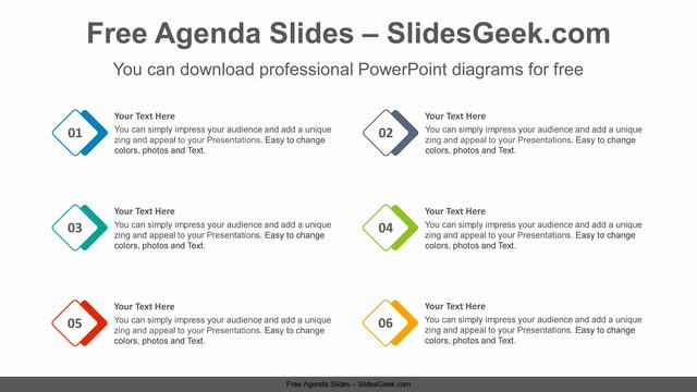 Overlapped-diamond-list-PowerPoint-Diagram-Template Feature Image