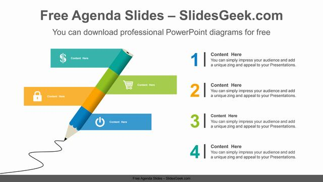 Pencil-banner-PowerPoint-Diagram-Template Feature Image
