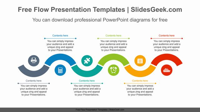 Snake-wave-line-PowerPoint-Diagram-Template Feature Image