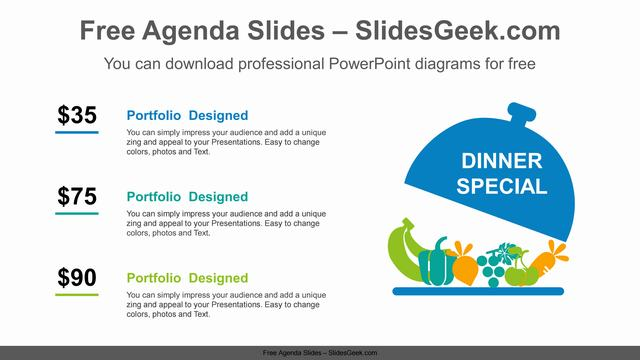 Special-Dinner-PowerPoint-Diagram-Template feature image