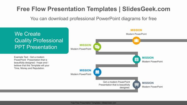 Thick-line-flow-PowerPoint-Diagram-Template Feature Image