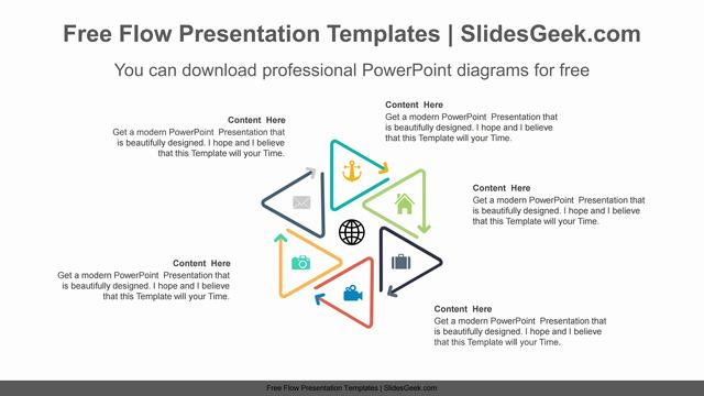 Triangle-Line-Arrow-PowerPoint-Diagram Feature Image