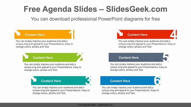 V-numbered-banner-PowerPoint-Diagram-Template Feature Image