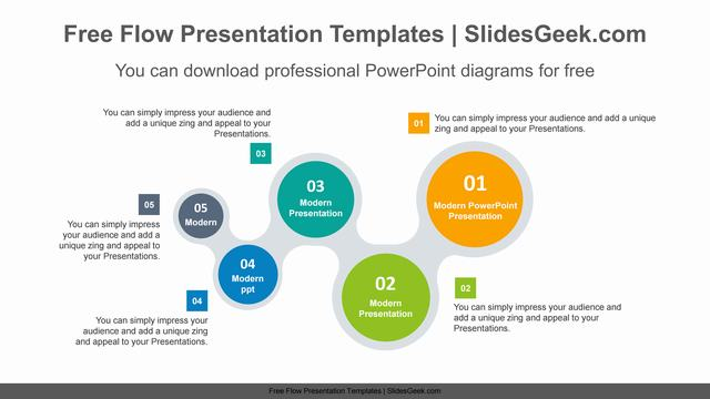 W-shaped-chain-PowerPoint-Diagram-Template Feature Image