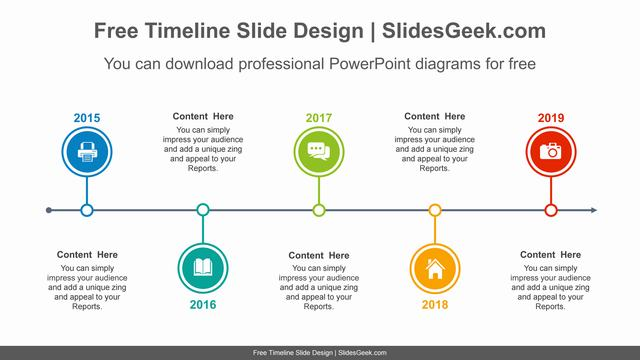 Five-circled-timelines-PowerPoint-Diagram-Template feature image