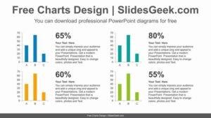 Four-vertical-bar-chart-PowerPoint-Diagram-Template feature image