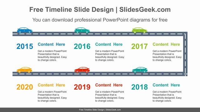 Highway-running-car-PowerPoint-Diagram feature image