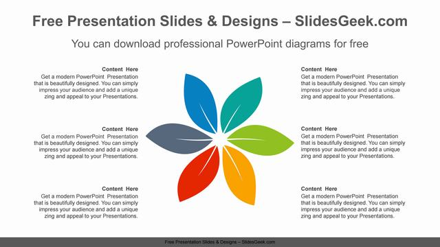 Radial-Petals-PowerPoint-Diagram feature image
