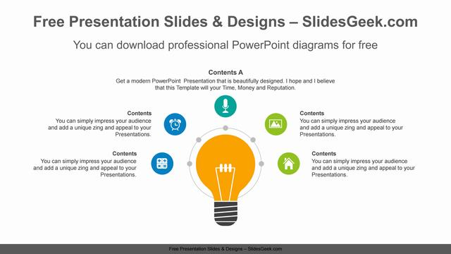 Radial-bulb-PowerPoint-Diagram-Template feature image