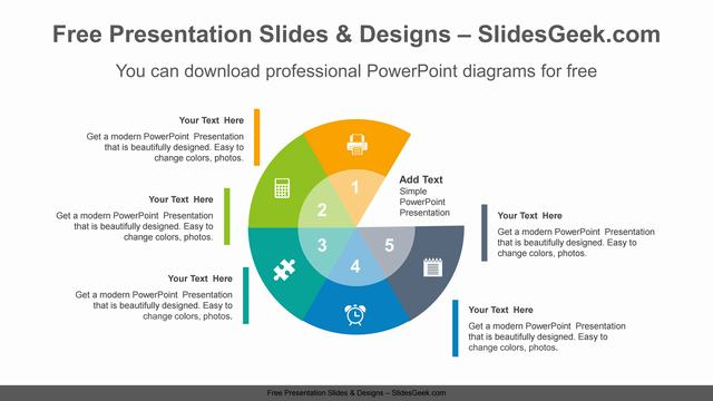 Radial-doughnuts-PowerPoint-Diagram-Template feature image