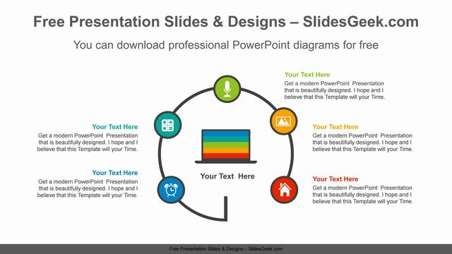 Radial-laptop-PowerPoint-Diagram-Template feature image