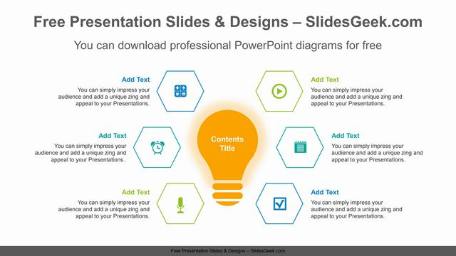Radial-light-bulb-PowerPoint-Diagram-Template feature image