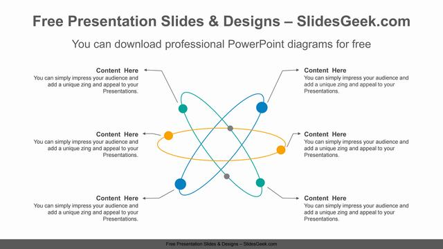 Radial-network-PowerPoint-Diagram-Template feature image
