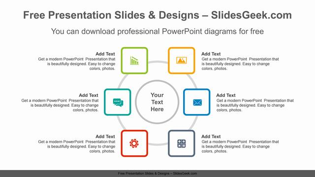 Radial-square-PowerPoint-Diagram-Template feature image