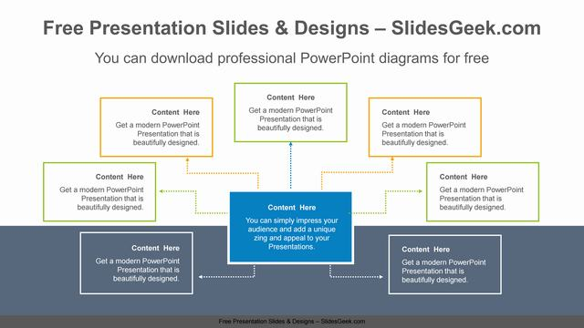 Radial-text-boxes-PowerPoint-Diagram-Template feature image