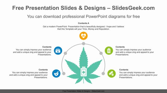 Semi-Radial-Leaf-PowerPoint-Diagram feature image
