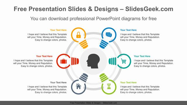 Six-radial-bulbs-PowerPoint-Diagram-Template feature image